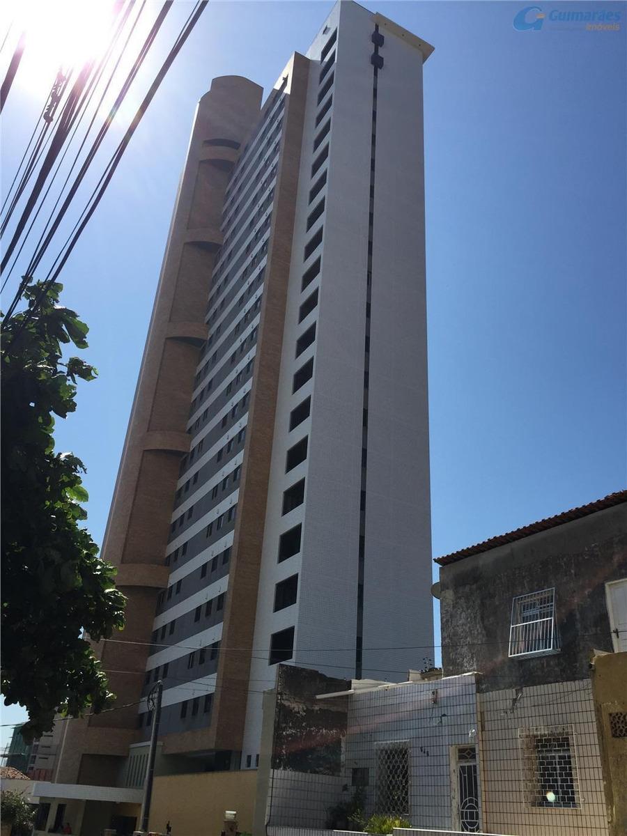 apartamento à venda, 72 m² por r$ 430.000,00 - praia de iracema - fortaleza/ce - ap2343
