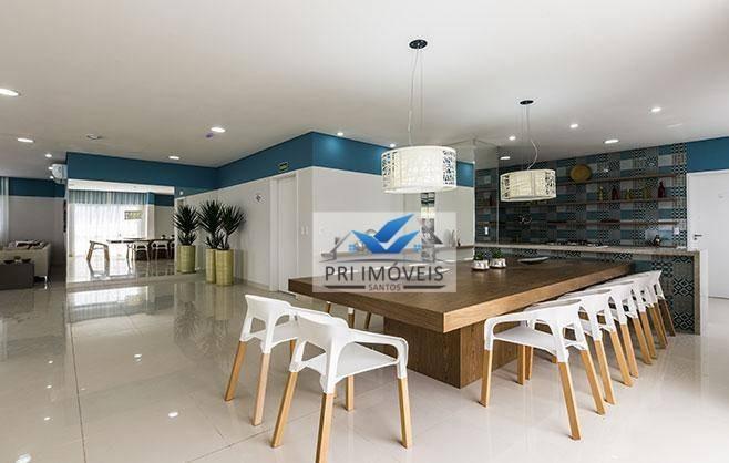 apartamento à venda, 75 m² por r$ 390.000,00 - vila valença - são vicente/sp - ap0330