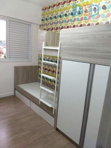 apartamento à venda, 75 m² por r$ 455.000,00 - jardim das indústrias - são josé dos campos/sp - ap2048