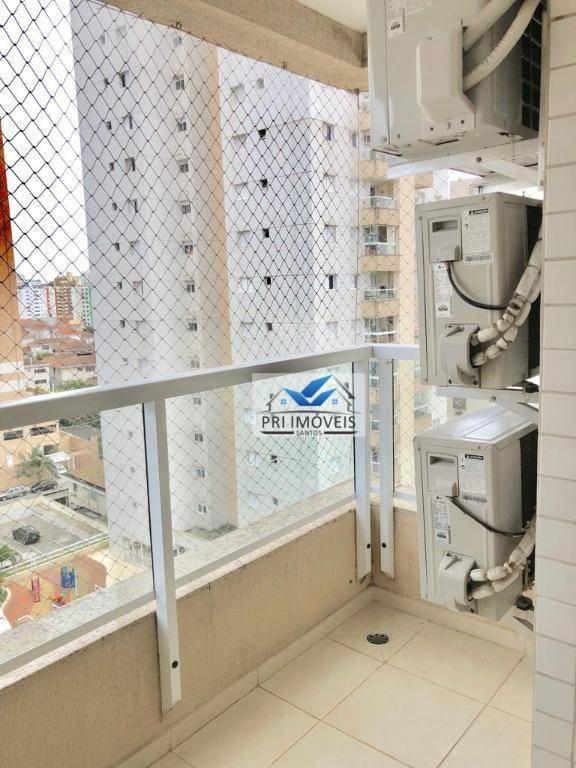 apartamento à venda, 77 m² por r$ 473.000,00 - ponta da praia - santos/sp - ap1226