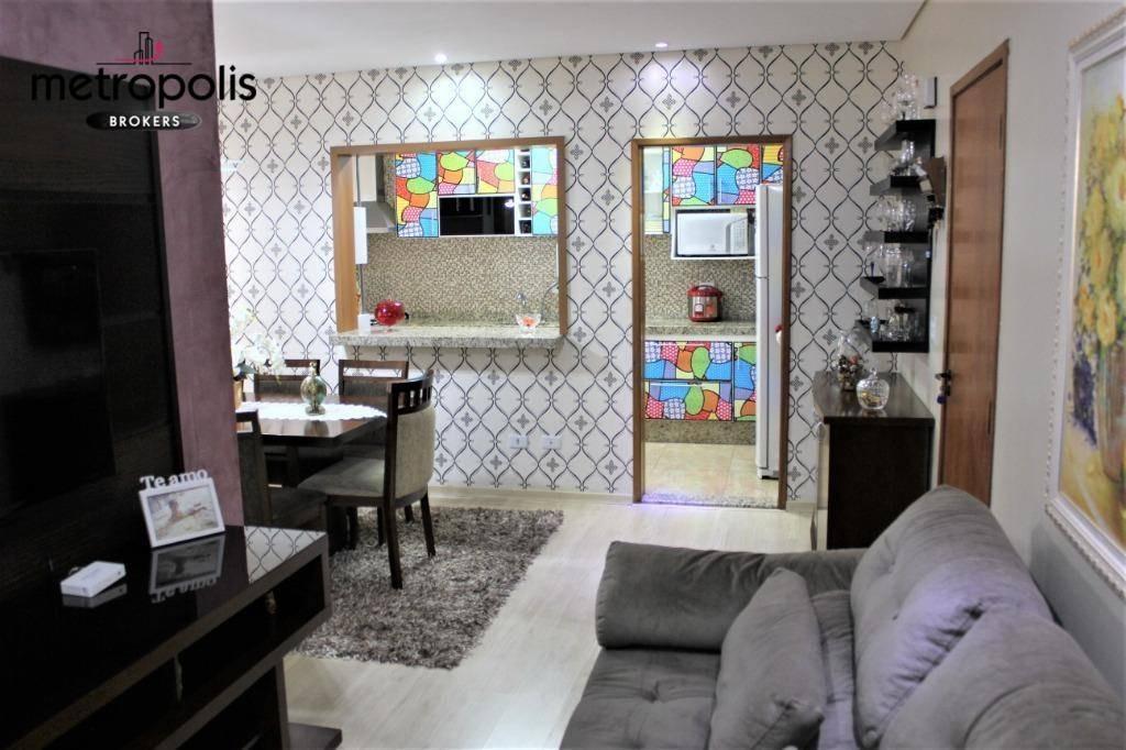 apartamento à venda, 78 m² por r$ 465.000,00 - santa maria - são caetano do sul/sp - ap1567