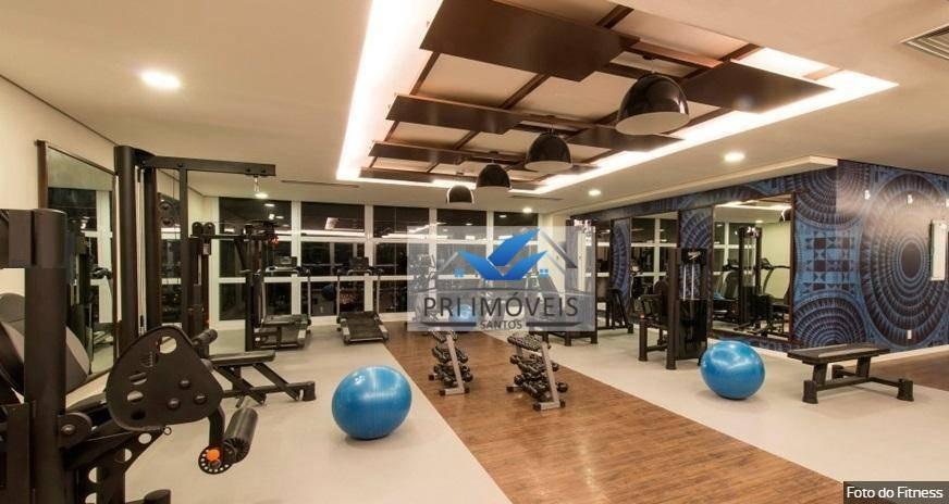apartamento à venda, 80 m² por r$ 799.000,00 - gonzaga - santos/sp - ap0960
