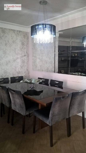 apartamento à venda, 85 m² por r$ 525.000,00 - jardim - santo andré/sp - ap0404
