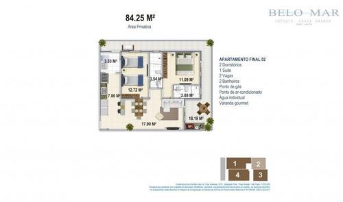 apartamento à venda, boqueirão, praia grande. - codigo: ap0220 - ap0220