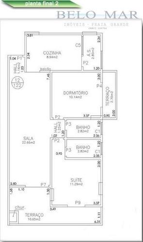 apartamento à venda, campo da aviação, praia grande. - codigo: ap0281 - ap0281