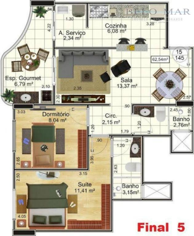 apartamento à venda, campo da aviação, praia grande. - codigo: ap0602 - ap0602