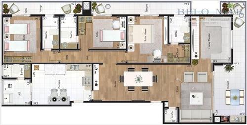 apartamento à venda, canto do forte, praia grande. - codigo: ap0243 - ap0243