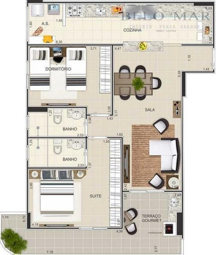 apartamento à venda, cidade ocian, praia grande. - codigo: ap0230 - ap0230