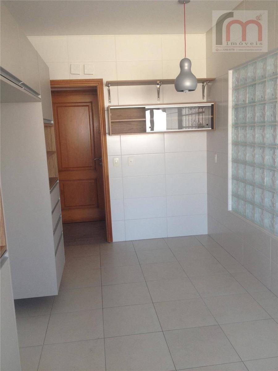 apartamento  à venda, gonzaga, santos, alto padrão 3 quadras da orla - codigo: ap1602 - ap1602