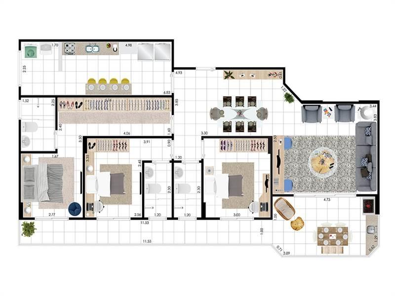 apartamento - venda - guilhermina - praia grande - tcl44