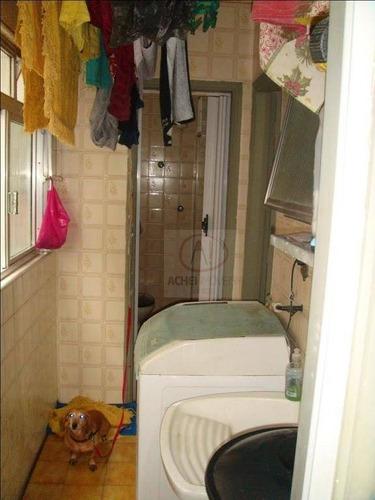 apartamento  à venda, marapé, santos, 2 dorms, sala, cozinha, dep. de empregada completa, elevador social e vaga demarcada. - ap8262