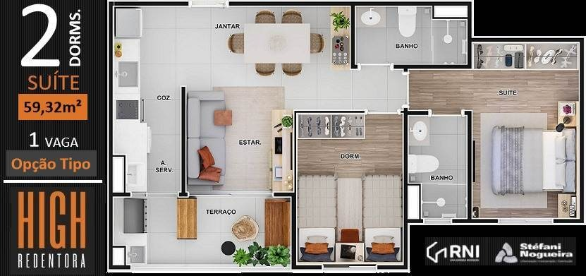 apartamento à venda no bairro vila redentora em são josé do rio preto/sp - 2020429