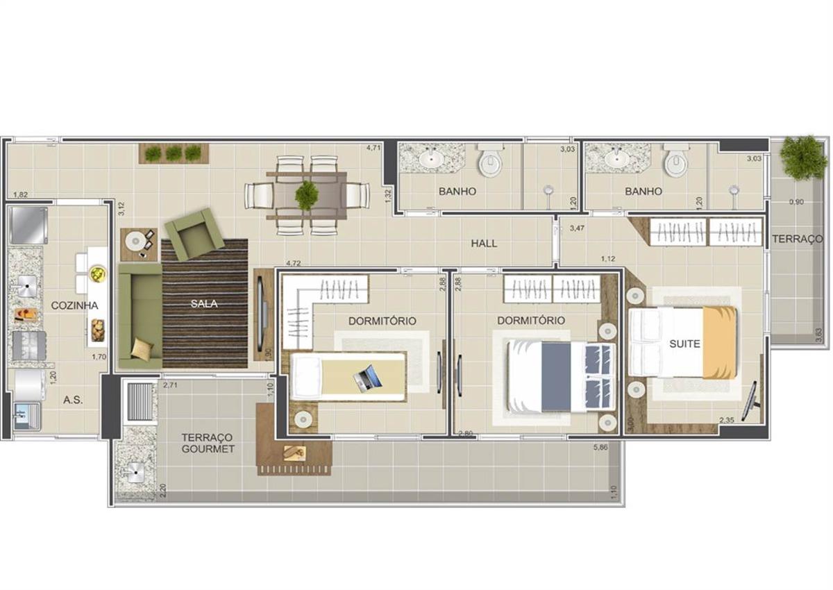 apartamento - venda - ocian - praia grande - vno75