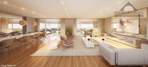apartamento à venda, parque campolim, edifício dijon em sorocaba-sp, 4 suítes, 4 vagas de garagem, área útil 314,00 m². - ap0363