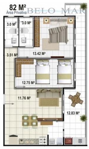 apartamento à venda, vila caiçara, praia grande. - codigo: ap0293 - ap0293