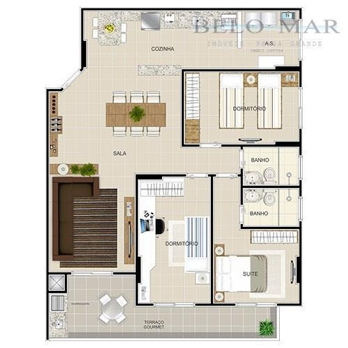 apartamento à venda, vila guilhermina, praia grande. - codigo: ap0247 - ap0247