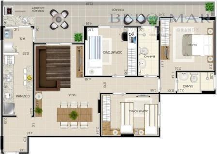 apartamento  à venda, vila guilhermina, praia grande. - codigo: ap0528 - ap0528