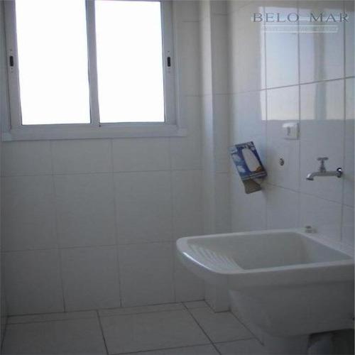 apartamento à venda, vila guilhermina, praia grande. - codigo: ap0597 - ap0597