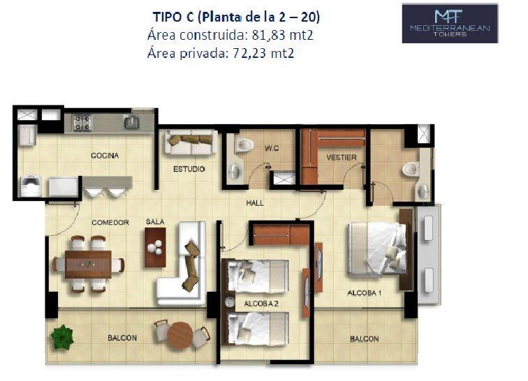 apartamento villa campestre