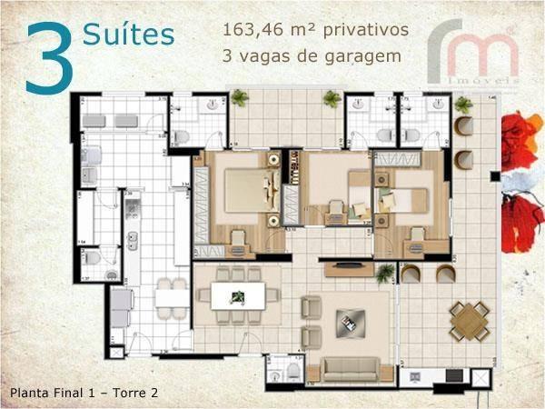 apartamento ville de france à venda, aparecida, santos. - codigo: ap1414 - ap1414