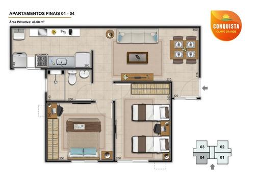 apartamentos 2 quartos campo grande conquista