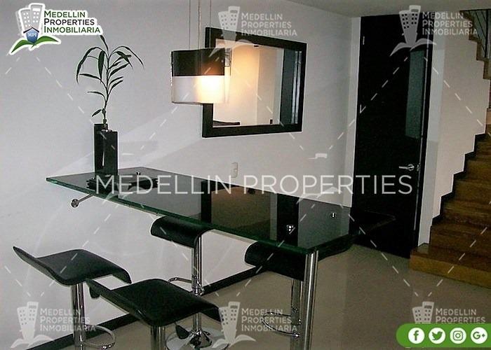 apartamentos amoblados economicos en medellin cód: 4204