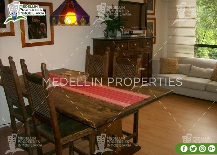 apartamentos amoblados economicos en medellin cód: 4214