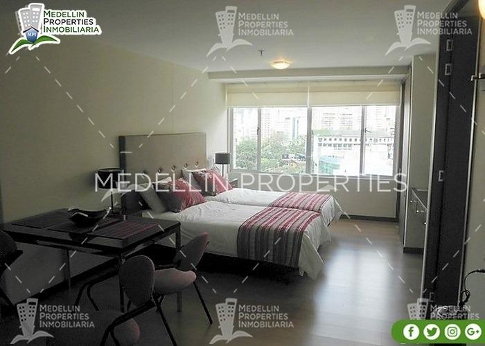 apartamentos amoblados economicos en medellín cód: 4248