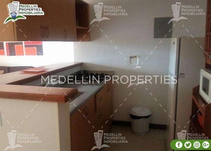 apartamentos amoblados economicos en medellín cód: 4502