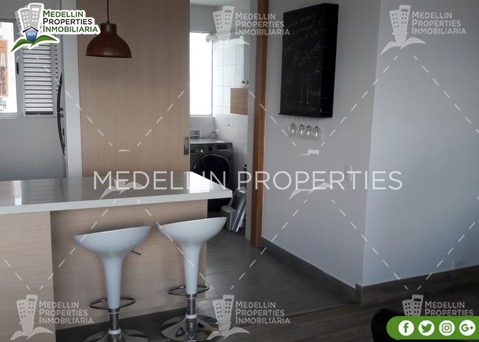 apartamentos amoblados economicos en medellín cód: 4852