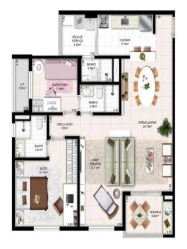 apartamentos com vistas encantadoras! - apt9 - 3051720