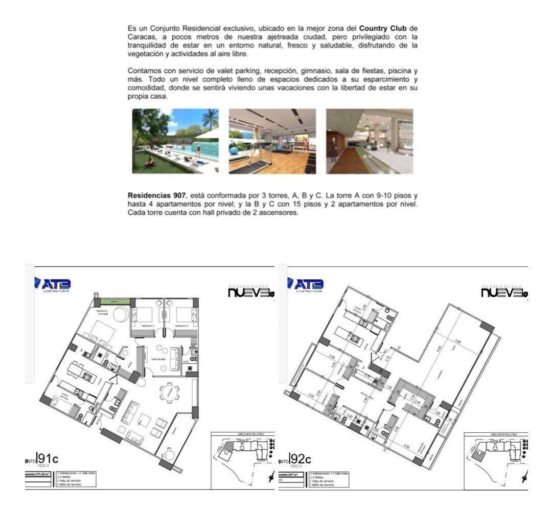 apartamentos de 2 y 3 habitaciones desde 110 metros