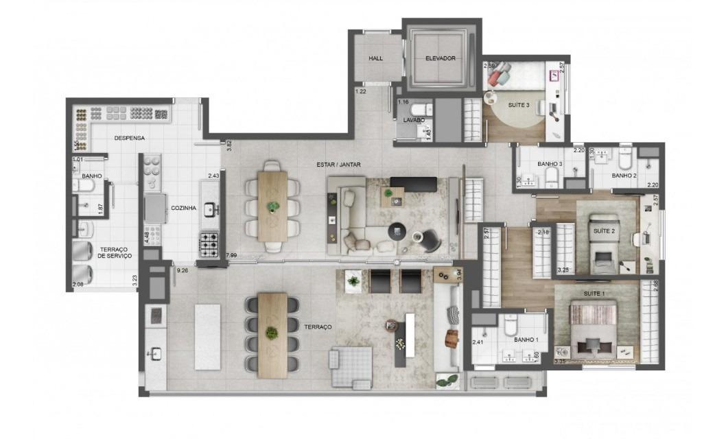 apartamentos de 4 dormitórios no tatuapé