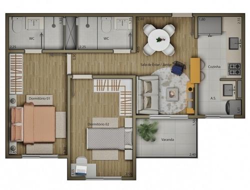 apartamentos de 67 m² residencial mariana maria no 13º andar - ap-006