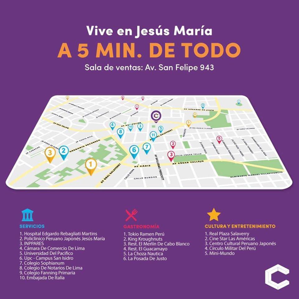 apartamentos en jesus maria c943 invierta en lima