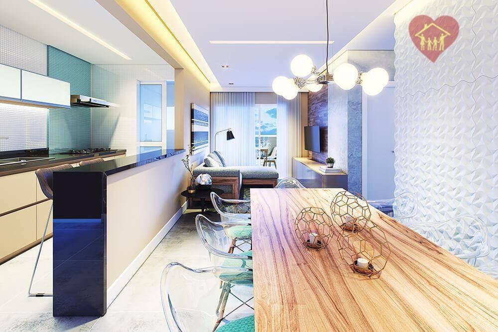 apartamentos no centro de itanhaém, com 2 dormitórios frente ao mar!!! - ap0195