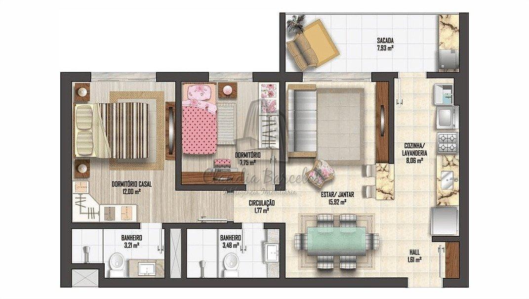 apartamentos - nossa senhora das gracas - ref: 22303 - v-720377