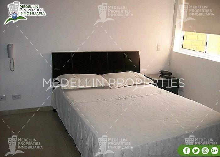 apartamentos y casas amobladas por dias en medellin cód:4213