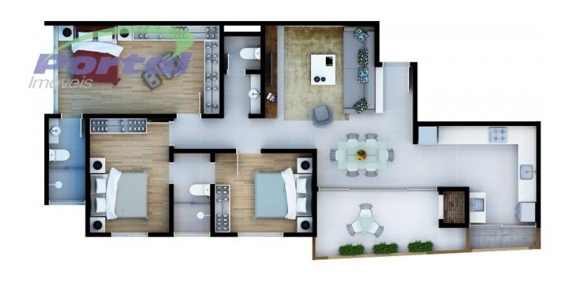 apartamentosno bairro itoupava norte residencial 25 boulevard, com 3 dormitórios (1 suíte + 2 demi), sala de jantar, sacada com churrasqueira, 02 vagas de garagem. apto pronto para morar.aceita veicu