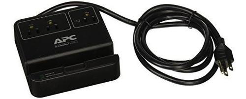 apc 3-outlet surge protector 1080 joule con 3 puertos de car