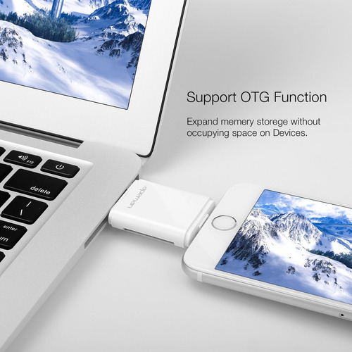 apeman 3 en 1 lector de tarjetas para iphone-ipad- mac- pc-