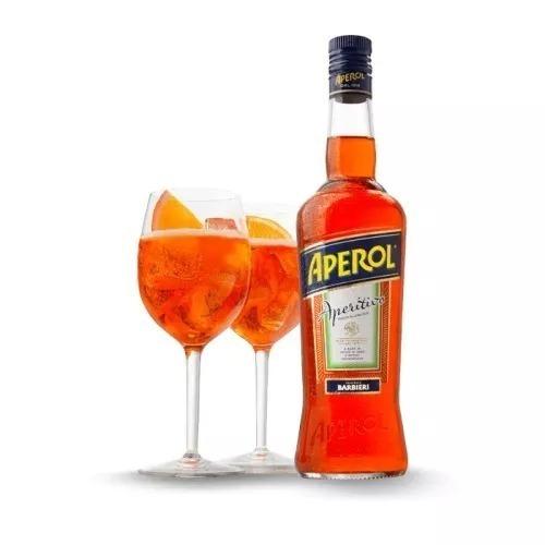 aperol 750ml original  - com receita de aperol spritz
