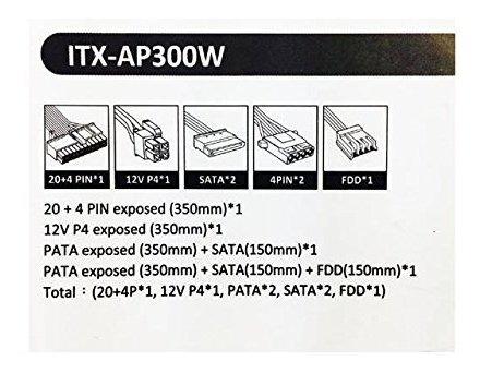 apevia itxap300w miniitx flex atx 300w fuente de alimentacio