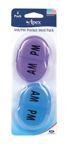 apex organizador de pastillas diario de bolsillo - am/pm