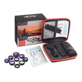 Apexel Kit 10 Lentes Smartphone Luneta Macro Wide Fisheye