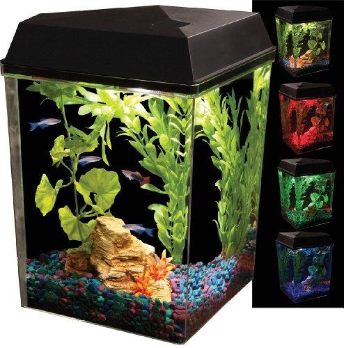 api kit aquaview esquina del acuario con iluminación led y