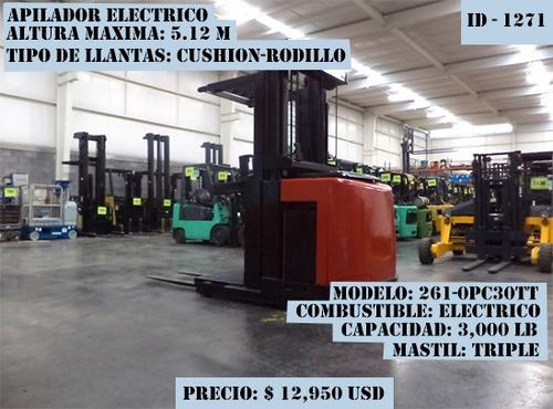 apilador electrico 2005 raymond 3000 lb modelo 261-0pc30tt