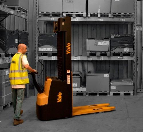 apilador eléctrico yale 1.600 kg y 4.70 mts - origen italia.