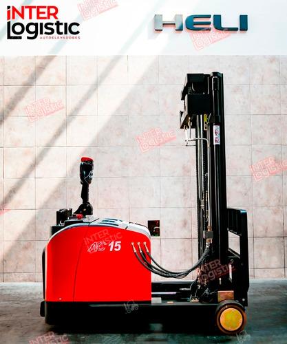 apilador elevador eléctrico retractil heli 1500 kg nuevo 0km