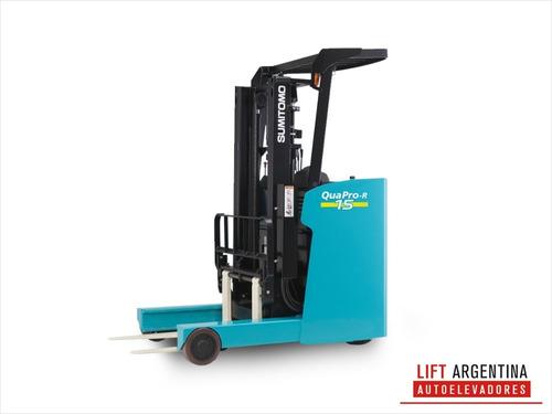 apilador sumimoto- cargador nuevo-  pasillo 2.40m-  garantía